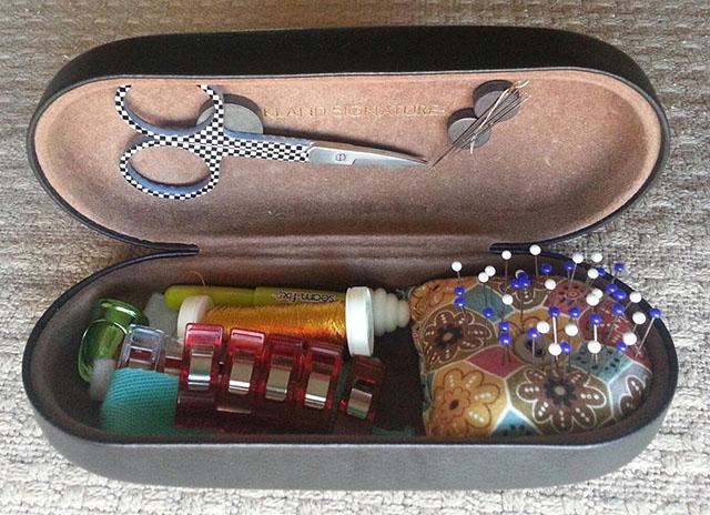 eyeglass case sewing kit