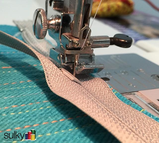computer bag sewing zipper