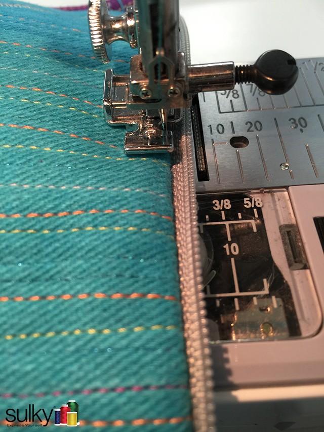 computer bag zipper topstitch