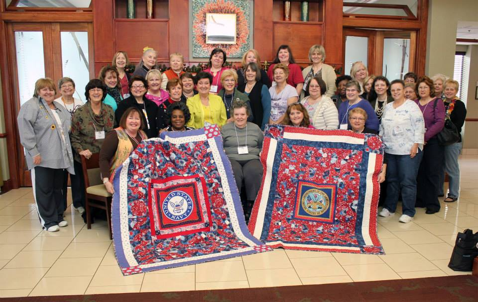 The Atlanta 2012 Teacher Certification class made the blocks that went into these two Quilts of Valor
