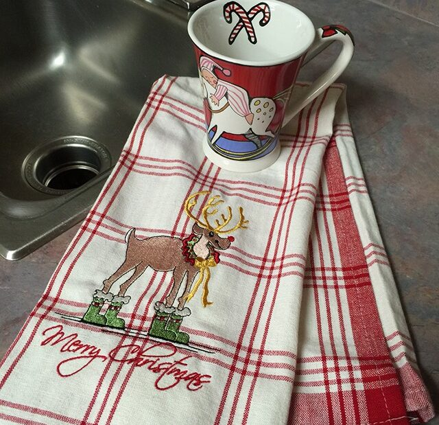 tea towel to make for gift giving