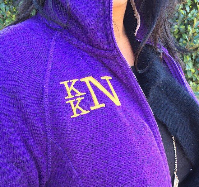 fleece embroidery tips pullover