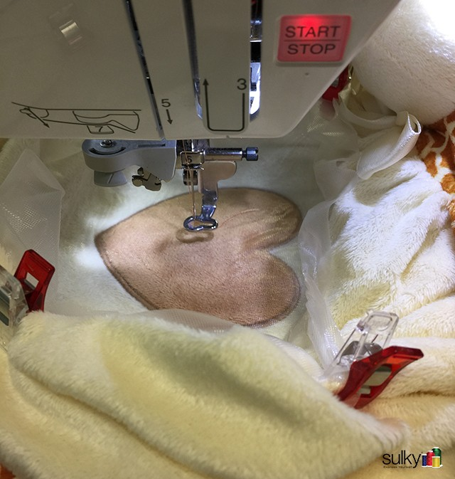 Now you are ready to go! Embroider that blankey!