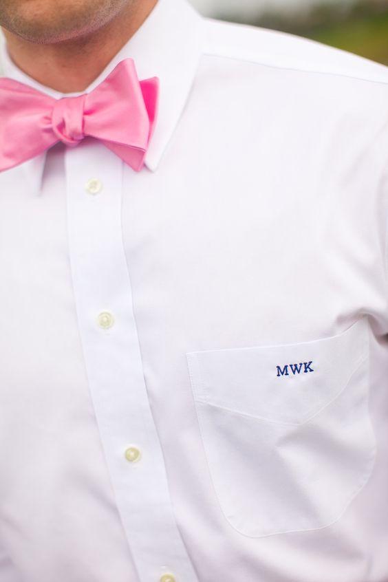 Monogrammed shirt pocket