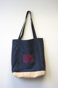 DIY Monogrammed Cork-Bottom Bag
