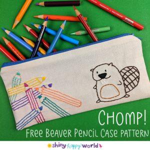 Beaver Pencil Case finished