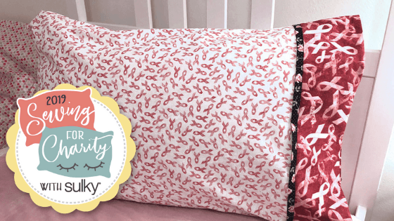 sewing for charity breast cancer awareness pillowcase
