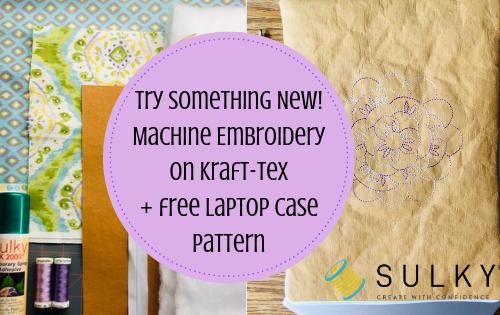 Machine Embroidered Laptop Case