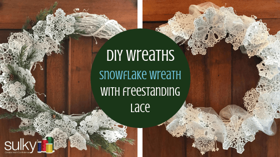 diy snowflake wreath with freestanding lace