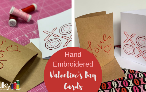 hand embroidered valentines day cards