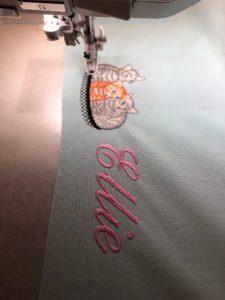 embroider a pillowcase