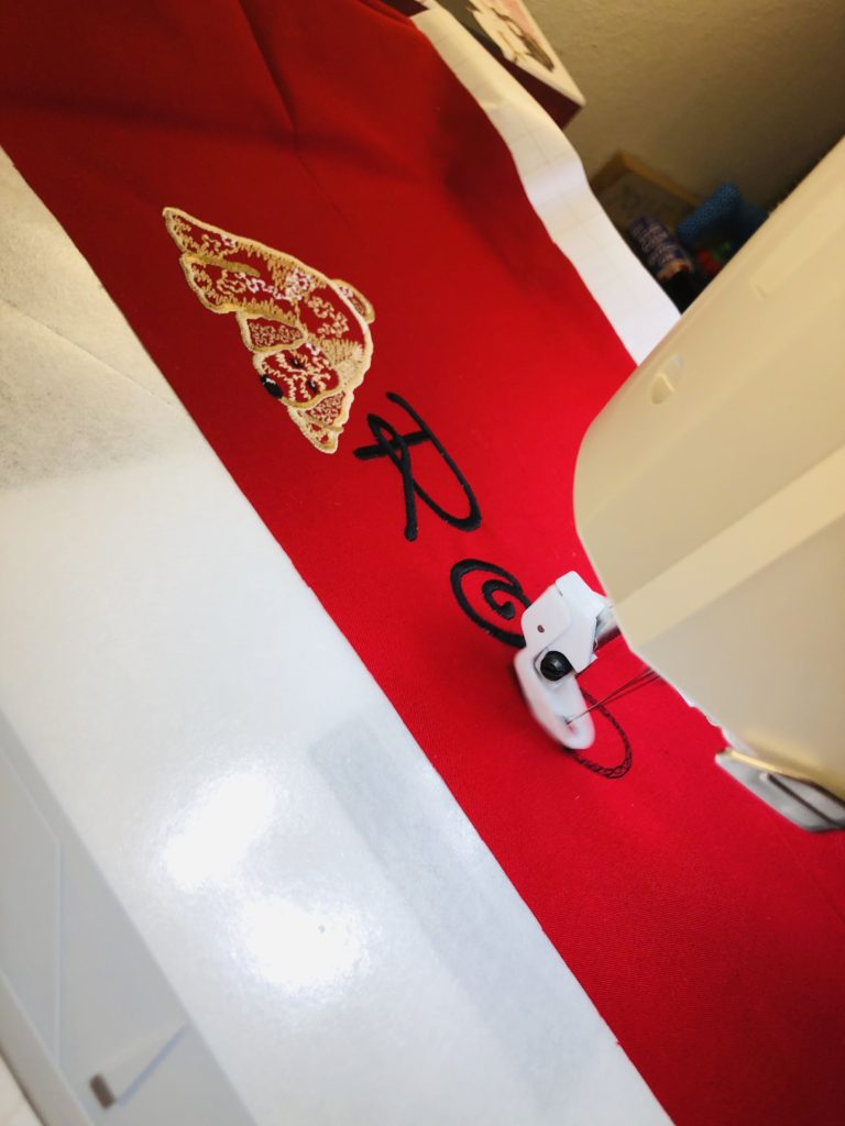 how to embroider a pillowcase machine embroidery