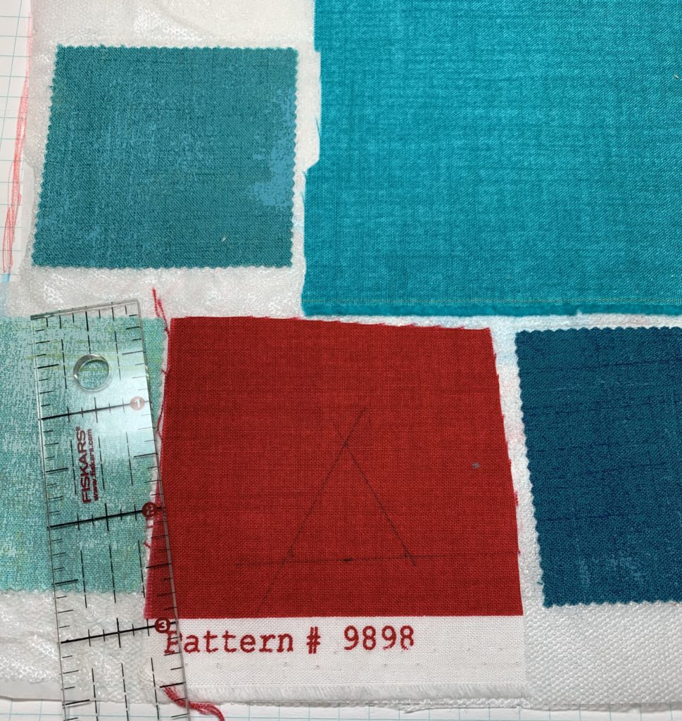 modern quilt design triangle shape