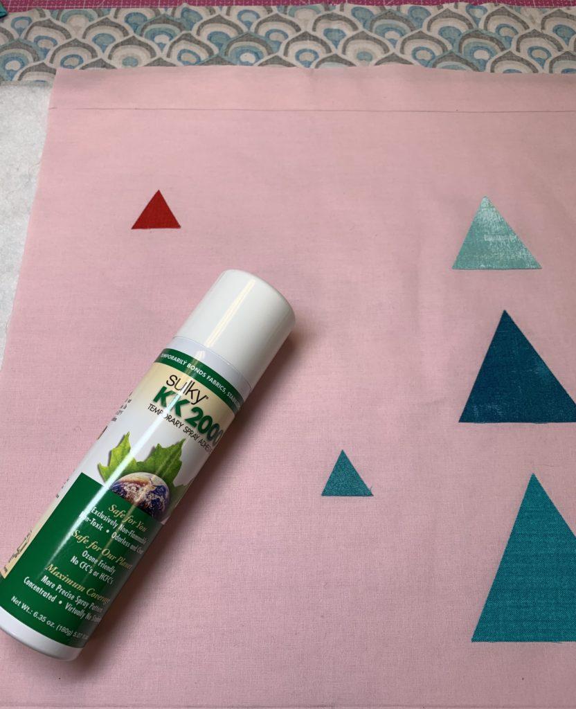 modern quilt design spray basting