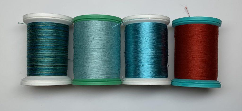 modern quilt design thread choice