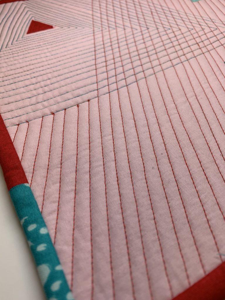 modern quilt design close up quilting