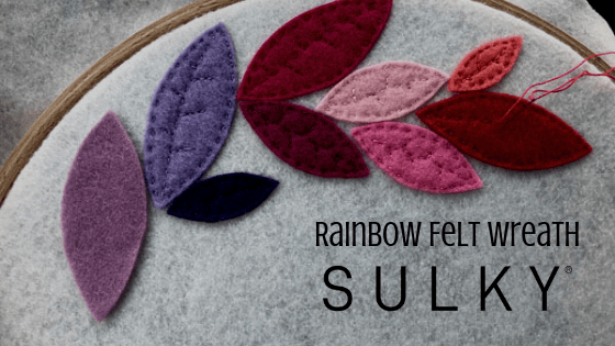 Rainbow Felt Wreath
