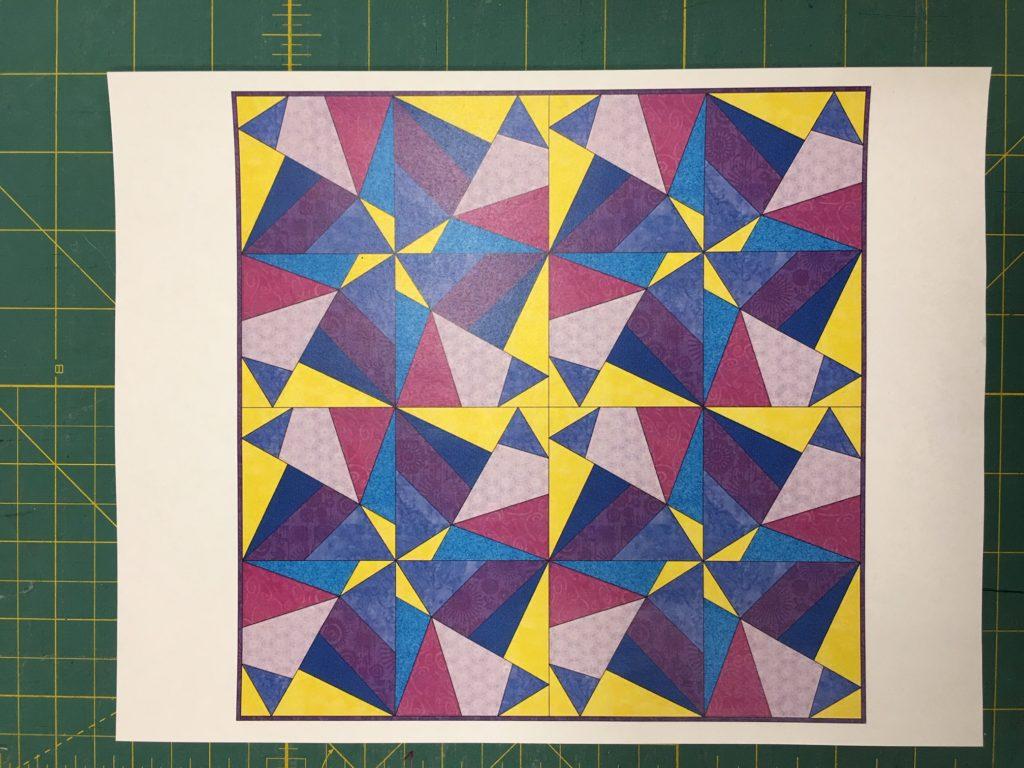 make a batik quilt block