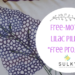 free-motion lilac pillow