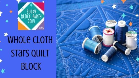 Stars Wholecloth Quilt Block