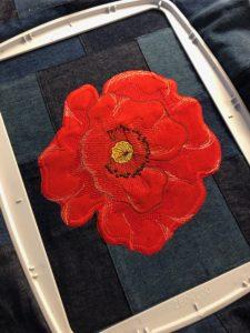 Memorial Day Poppy Bag