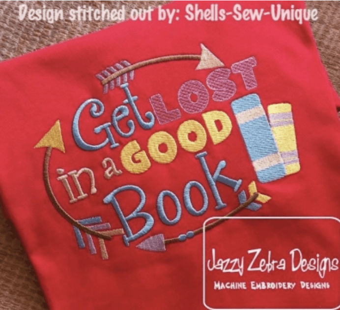library tote embroidery