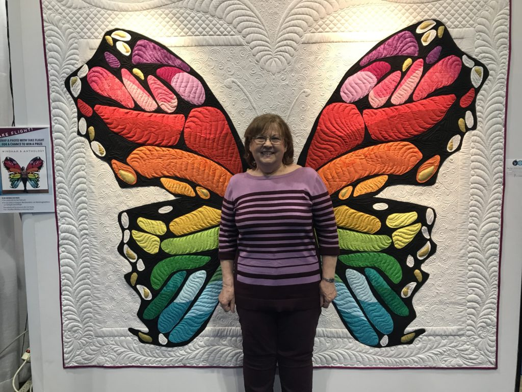 3-D Butterfly machine embroidery inspiration