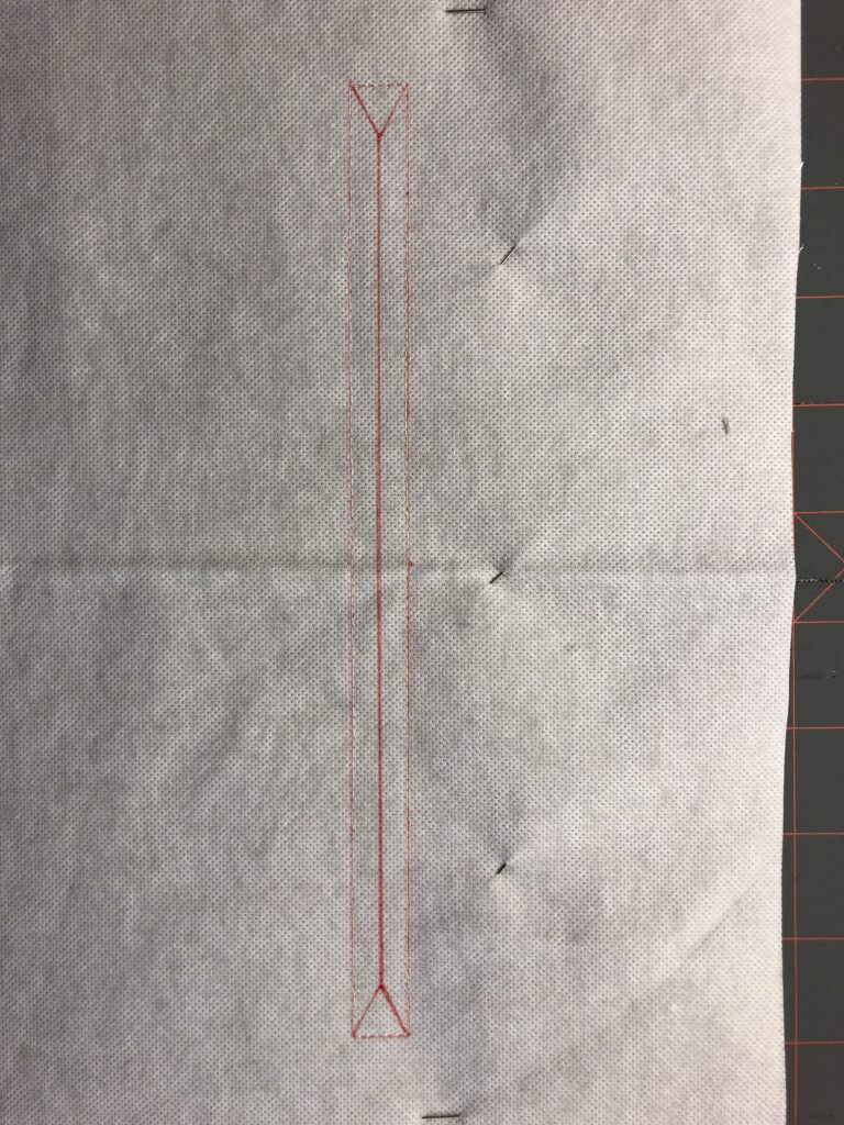 marking zipper opening