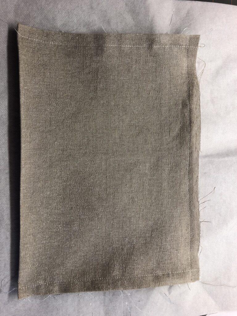 lined zipper pocket