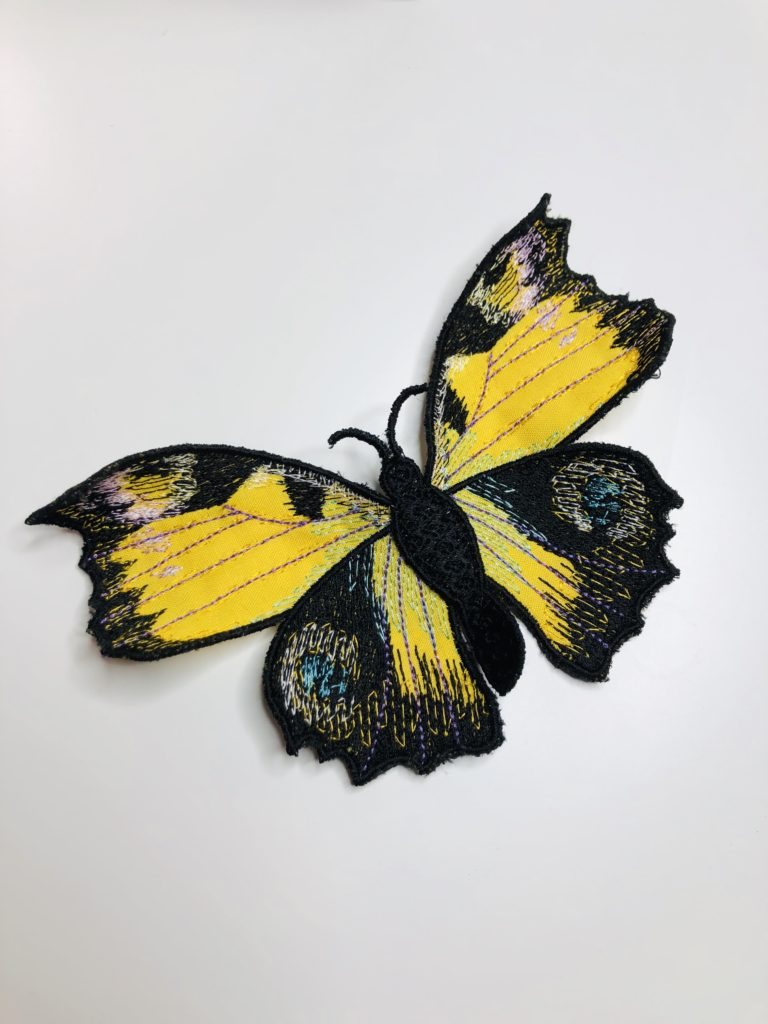 3_D Butterfly Machine Embroidery