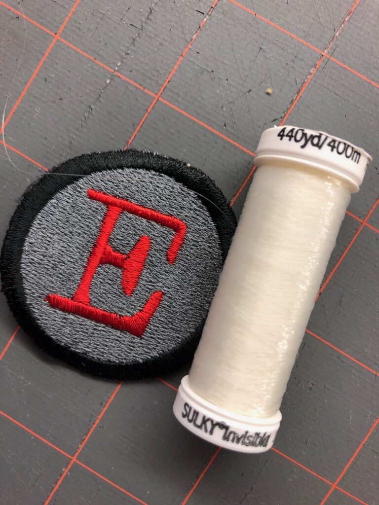 stitch patch using invisible thread