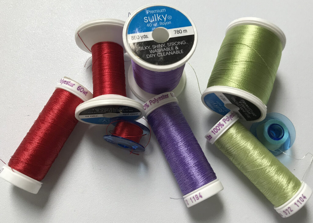 machine embroidery threads