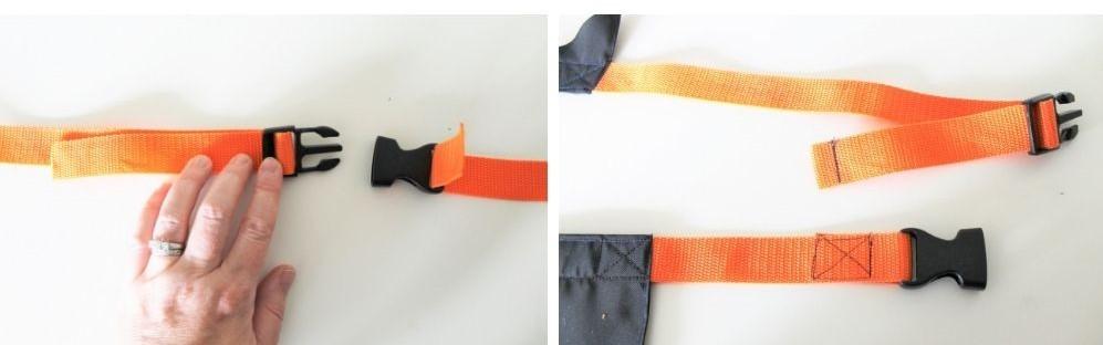 DIY stadium seat webbing with buckle