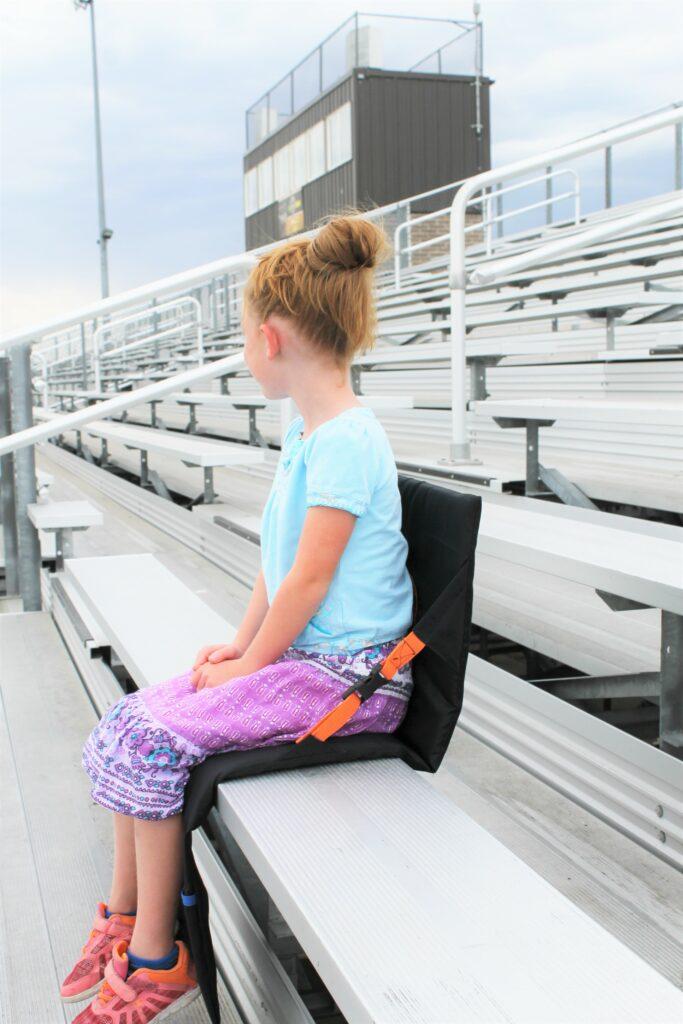DIY stadium seat with model
