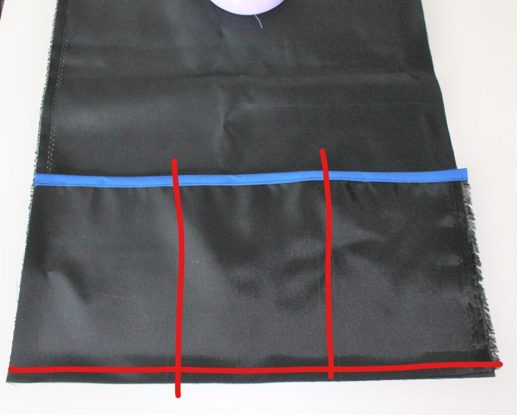 DIY stadium seat front pocket sewing