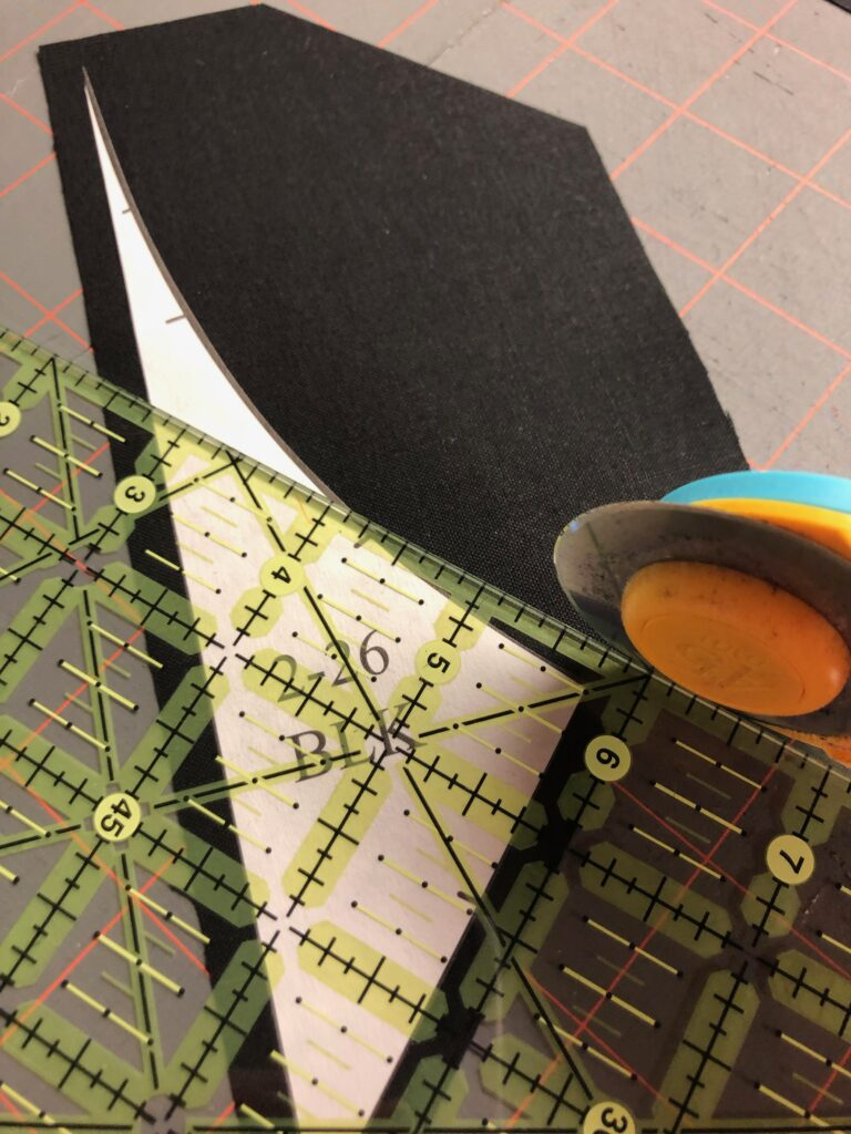 moving rotary cutter as you cut