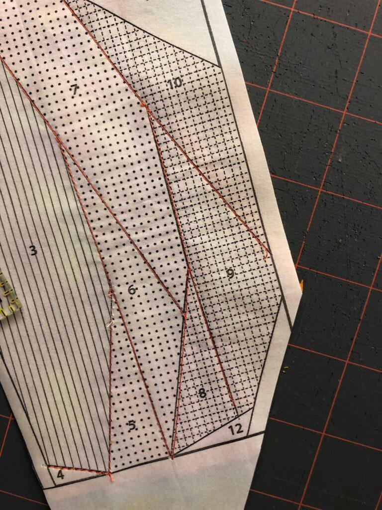 paper piecing trimming pattern