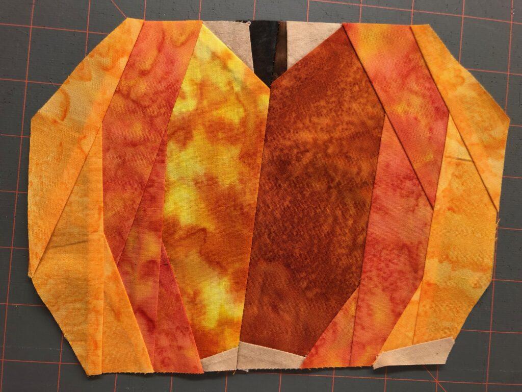paper pieced pumpkin