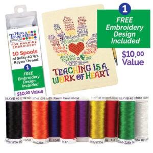 hug a teacher journal cover thread palette