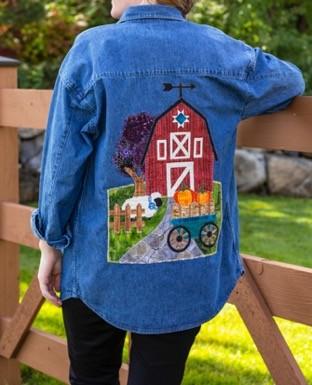 Fall Applique Jacket