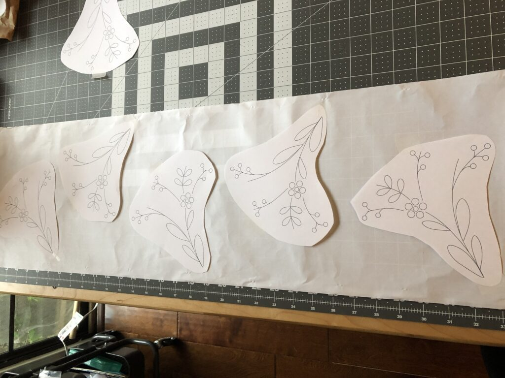 lampshade embroidery layout