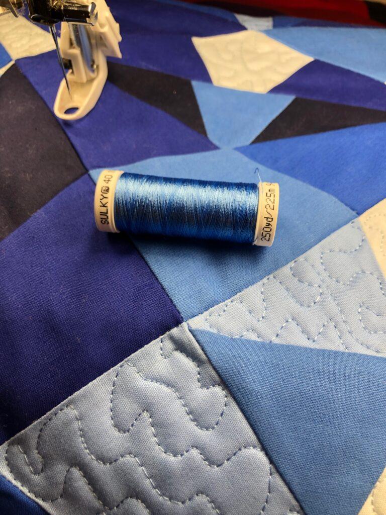 sapphire blue thread hues