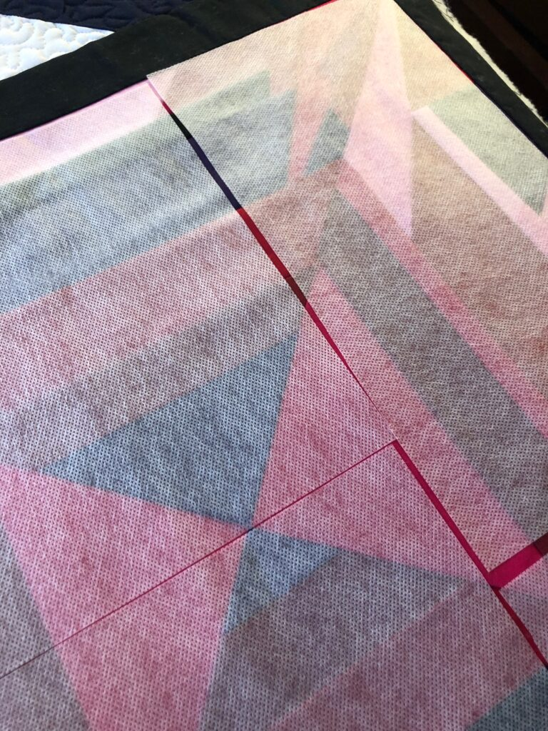 quilt top with Sticky Fabri-Solvy