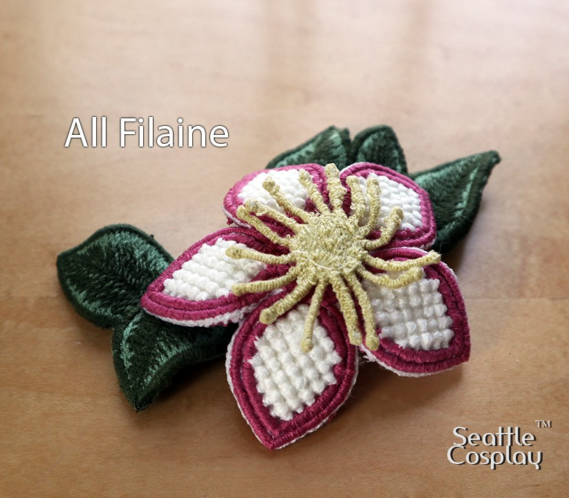 Filaine thread for flower fascinator