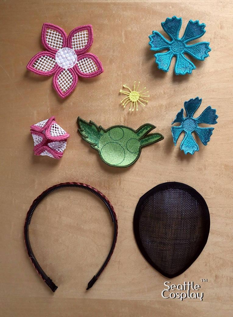 flower fascinator supplies