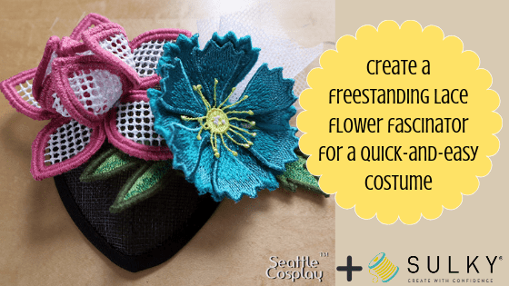 freestanding lace flower fascinator