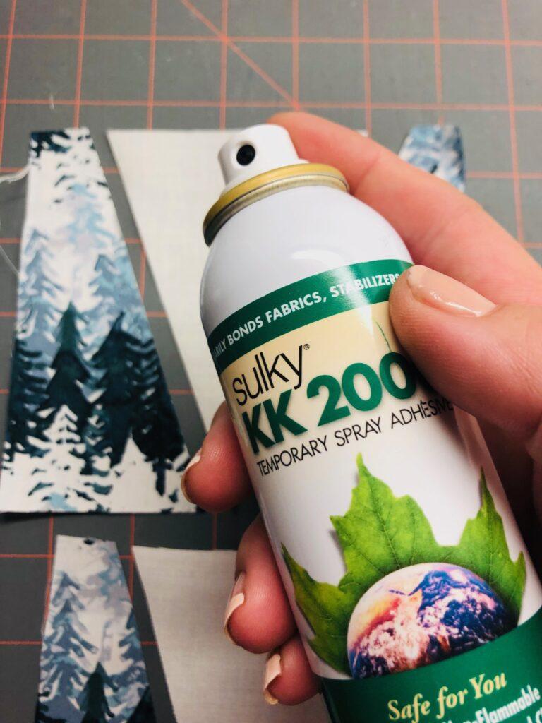 spray baste with KK 2000