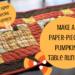 paper pieced pumpkin table runner