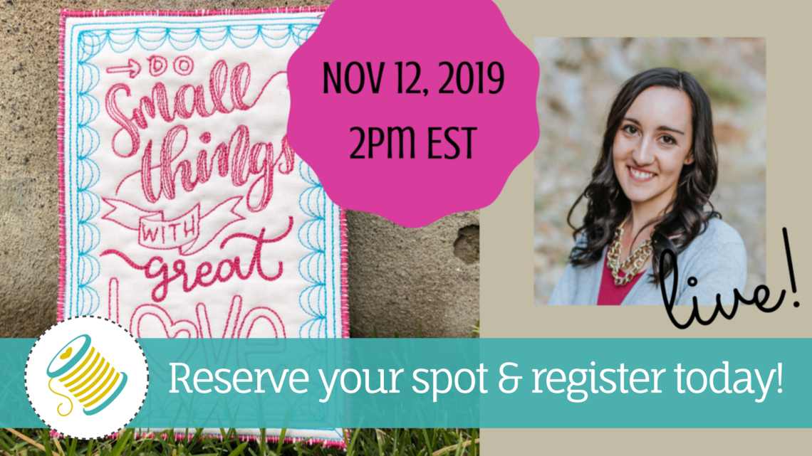 hand lettered quilting webinar