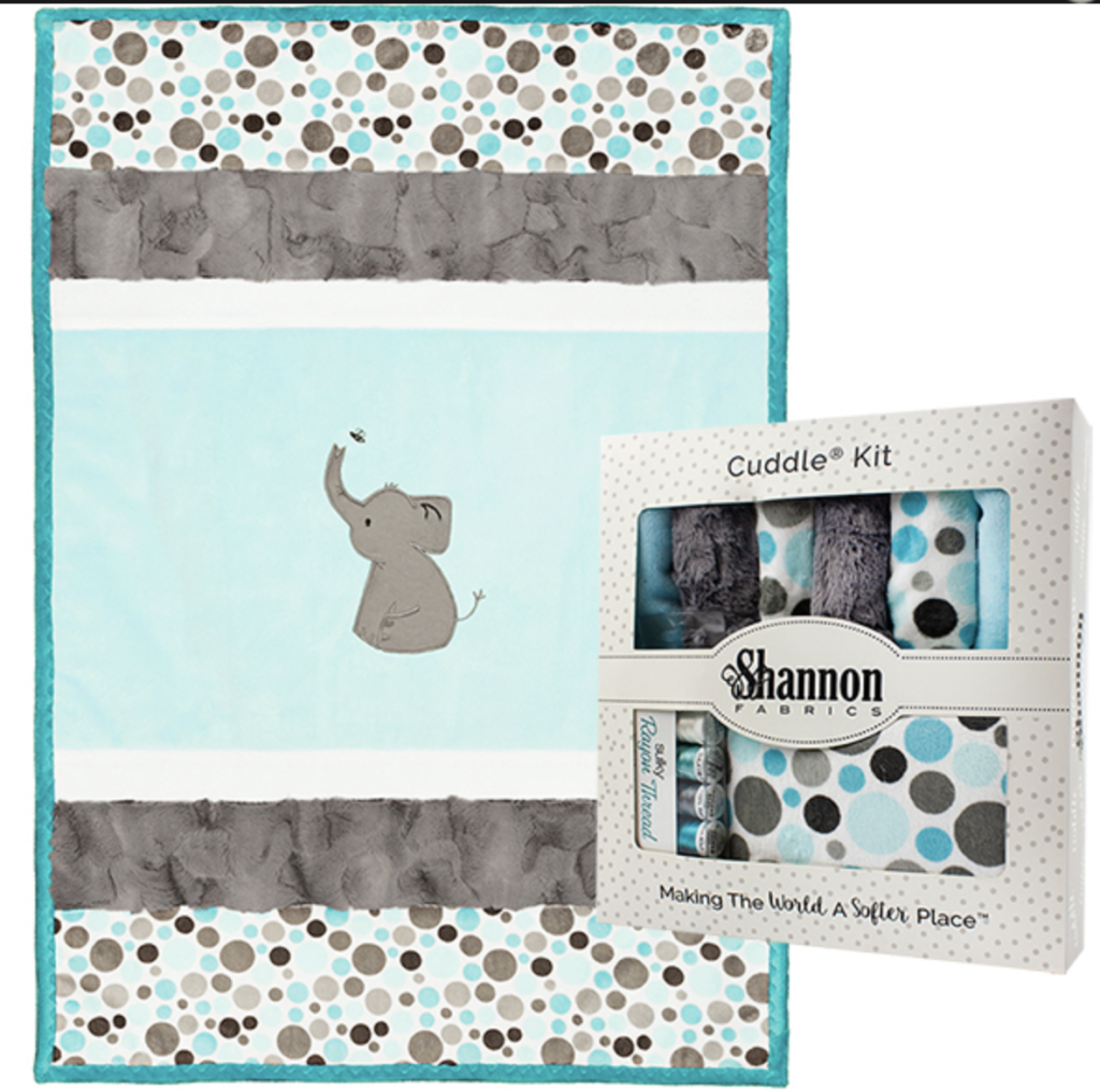 Elephant Quilt kit with Embroidery